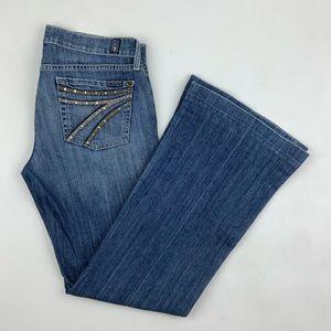 7 for all mankind dojo flare jeans Women's Size 29